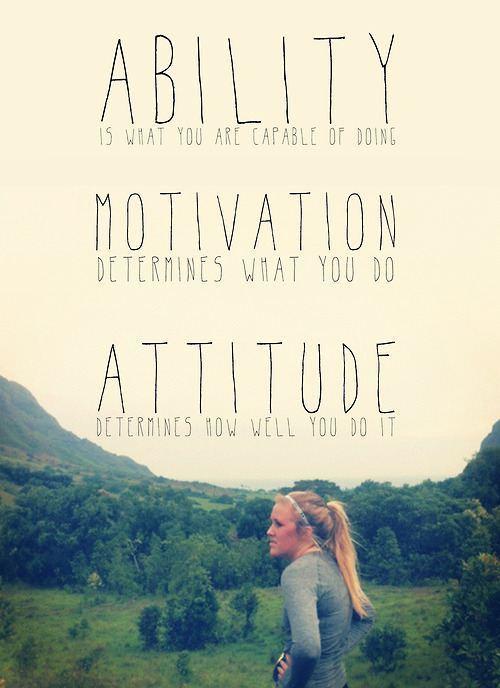 Determination Quotes ability motivation determines what you do attitude