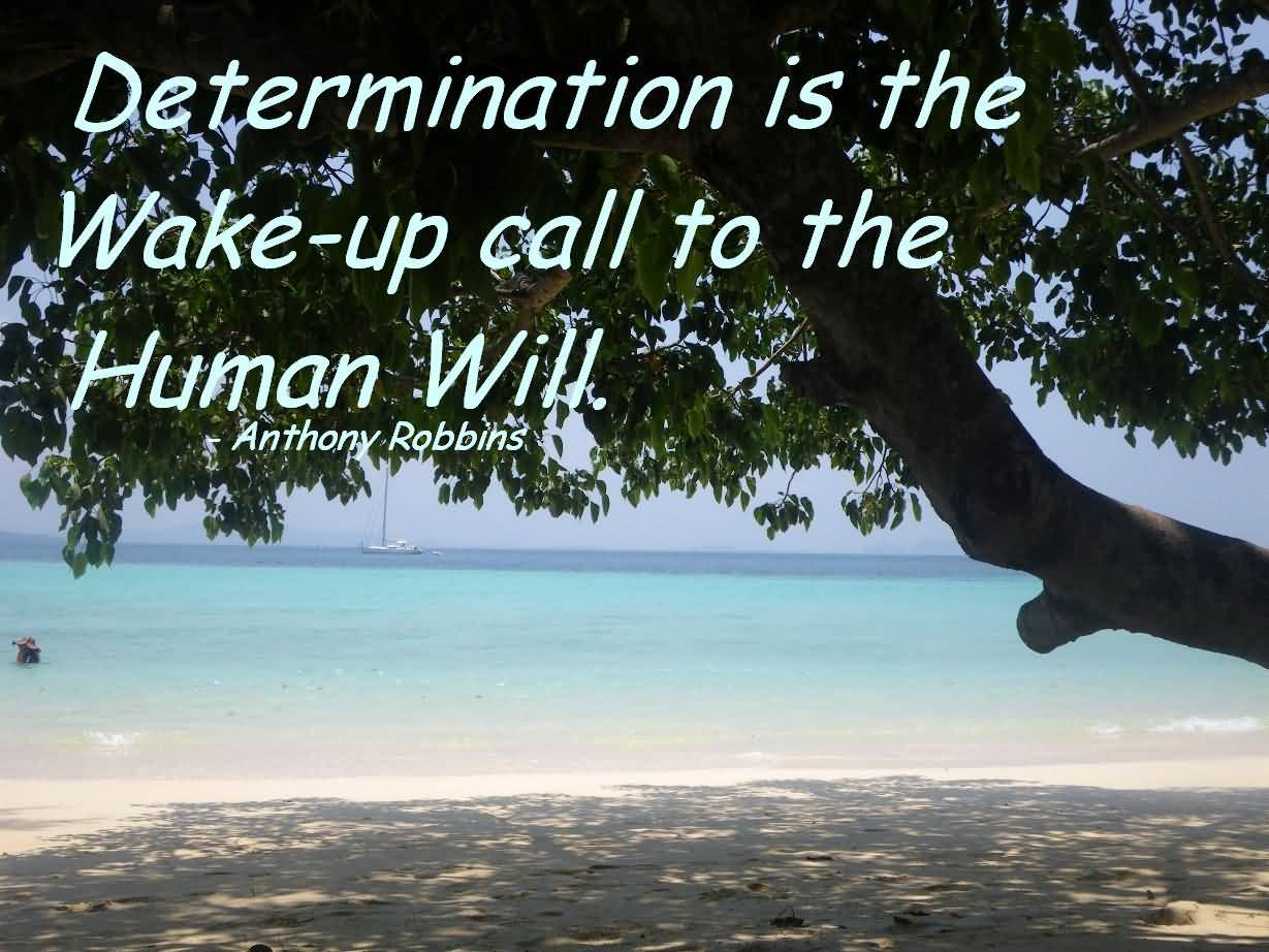 Determination sayings determination is the wake up call to the human will