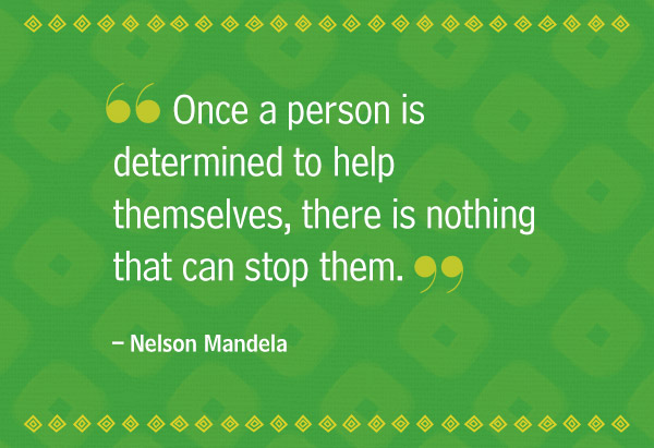 Determination sayings once a person is determined to help