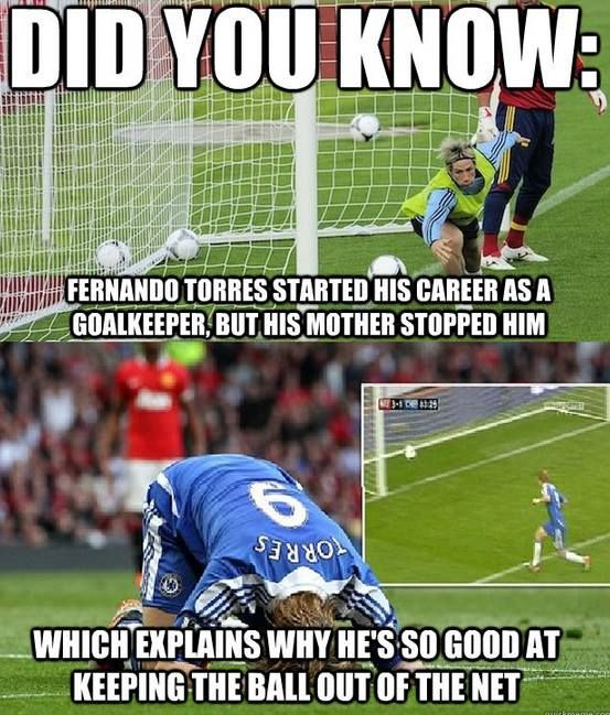 Did you know fernando torres started his Football Meme