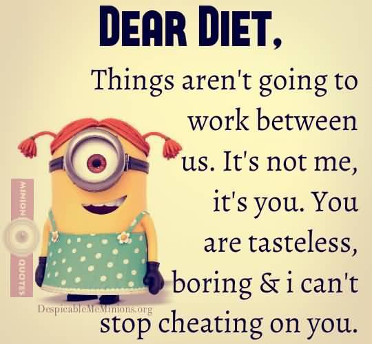 Diet sayings dear diet things aren't going to work between us