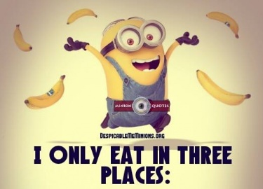 Diet sayings i only eat in three places