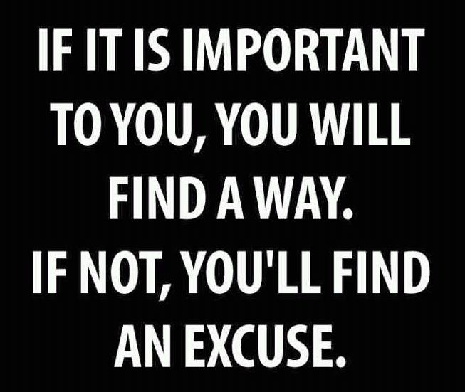Diet sayings if it is important to you will find a way
