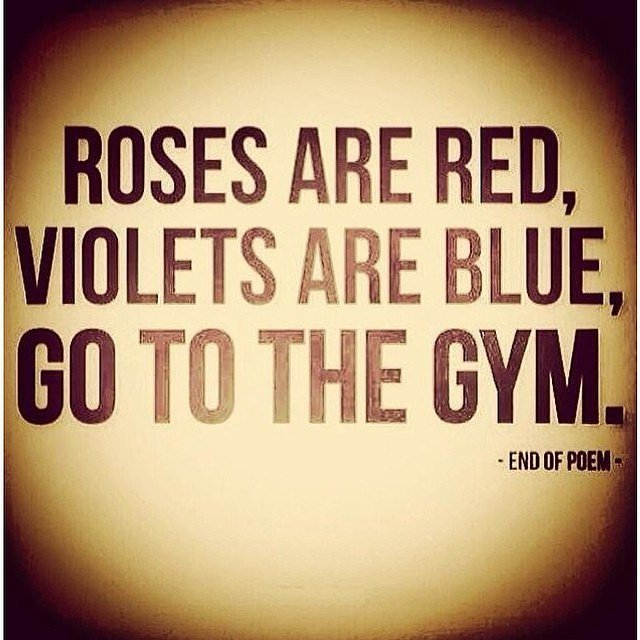 Diet sayings roses are red violets are blue go to the gym