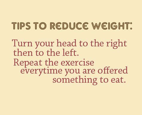 Diet sayings tips to reduce weight