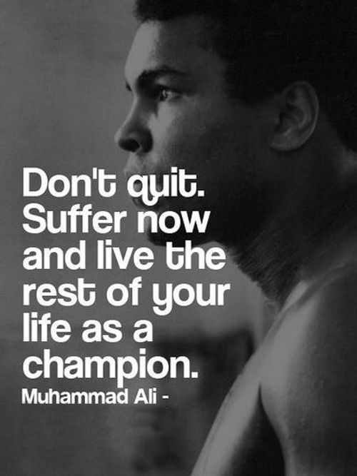 Drug Recovery Quotes don't quit suffer now and live the rest