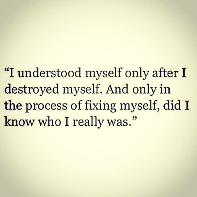 Drug Recovery Quotes i understood myself only after i destroyed