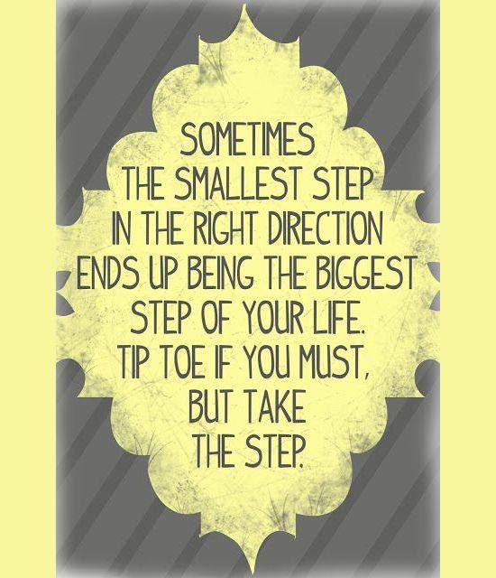 Drug Recovery Quotes sometimes the smallest step in the