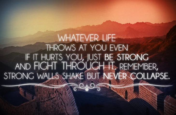 Drug Recovery Quotes whatever life throws at you even if it hurts you just be