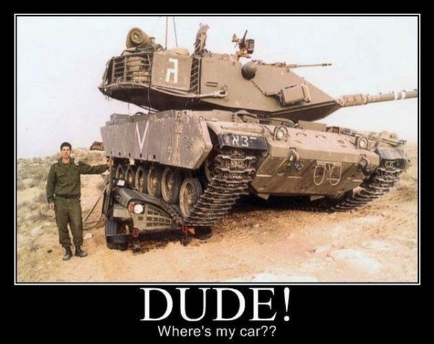 Dude where's my car Funny Army Image