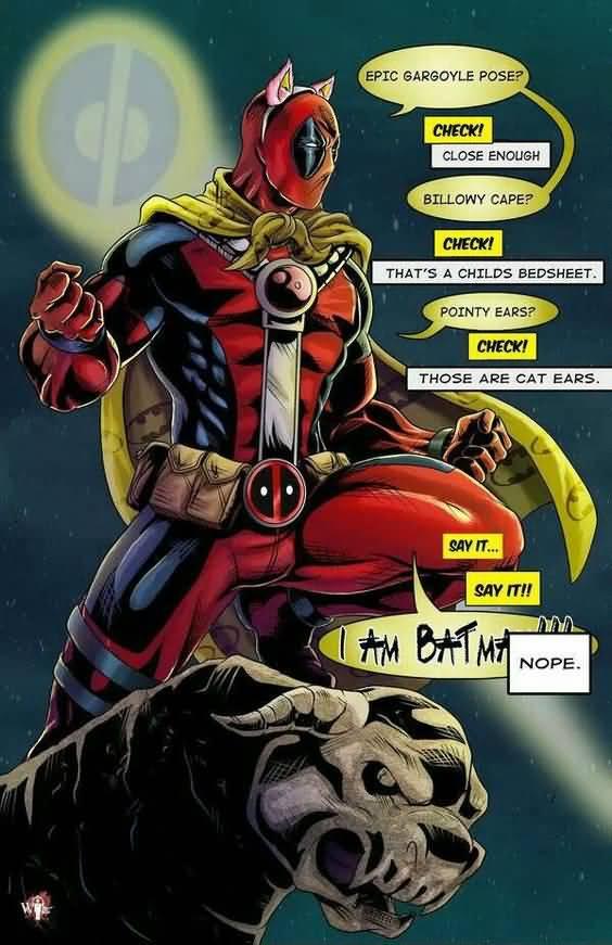 Epic Gargoyle Pose Check Close Enough Funny Deadpool Memes