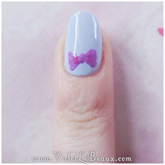 Fantastic Bow Nails With One Bow