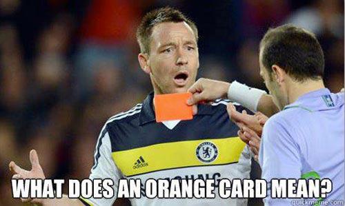 Football Meme What does an orange card mean