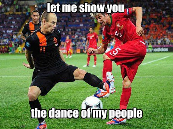 Football Meme let me show you the dance of my people