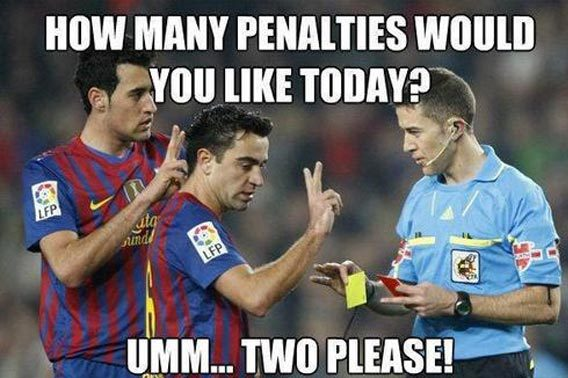 Football Memes how many penalties would you like today