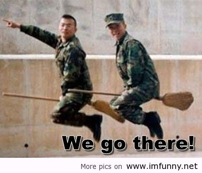 Funny Army Image we go there