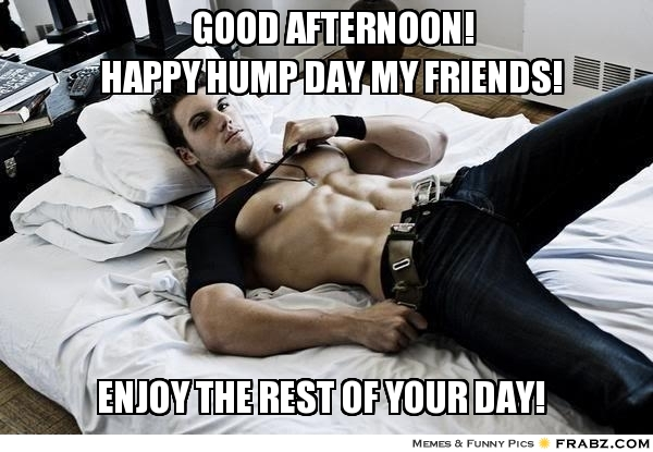 Good Afternoon Meme Good afternoon happy hump day my friends
