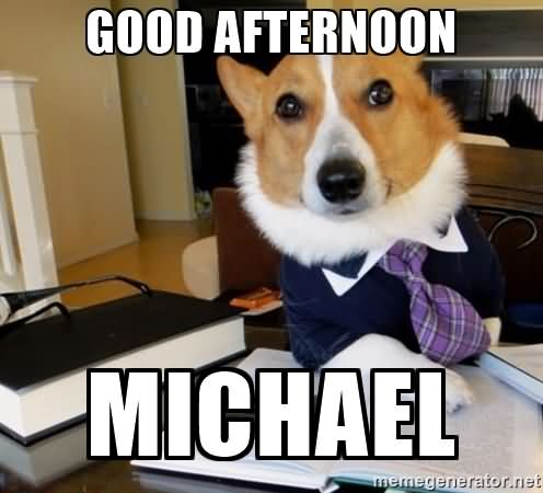 Good Afternoon Memes good afternoon Michael