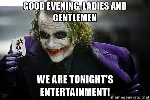 Good evening ladies and gentlemen Good Evening Meme