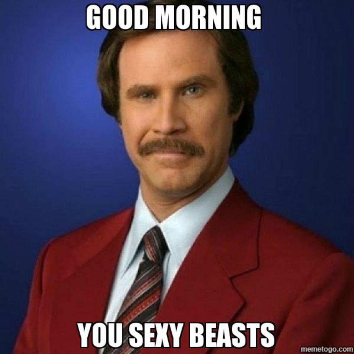 Good morning you sexy beast Good Morning Memes