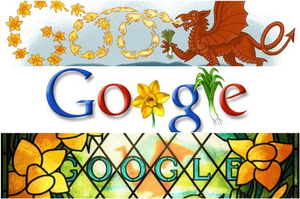 Google Celebrate Happy St David's Day Image