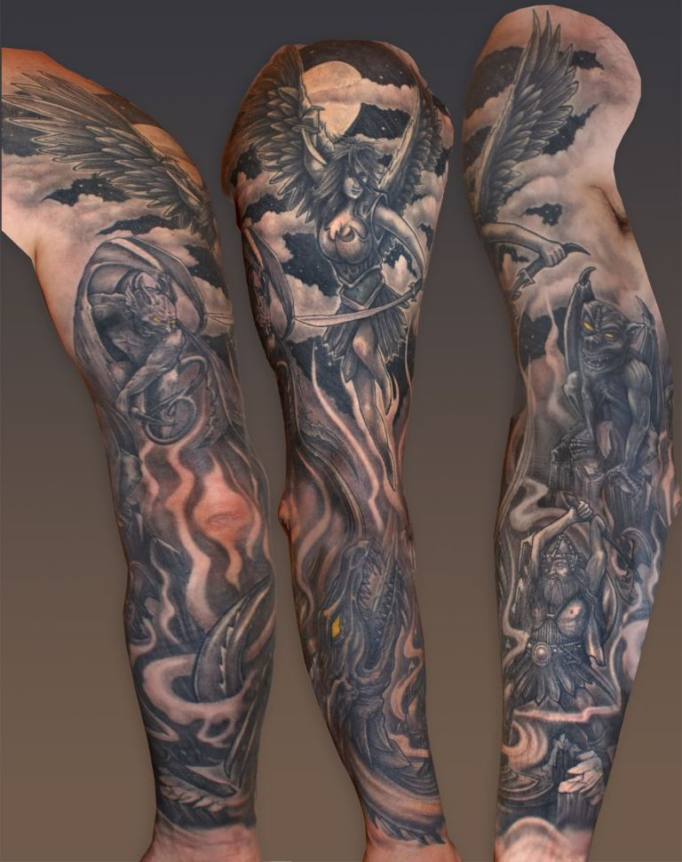 49 Famous Hell Tattoos Designs, Ideas, Images & Photos