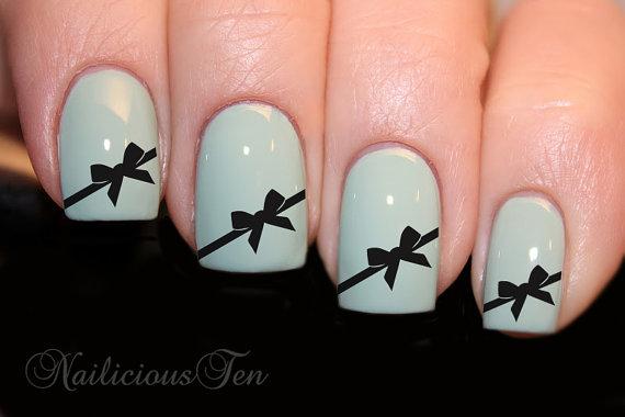 43 Simple Bow Nail Art Designs, Ideas, Pictures & Photos   Picsmine