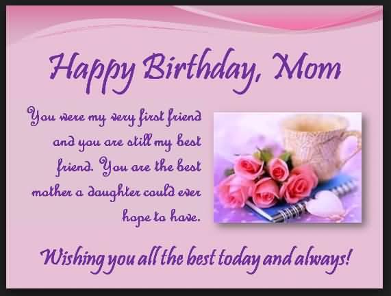 Happy Birthday Sayings happy birthday mom you were my