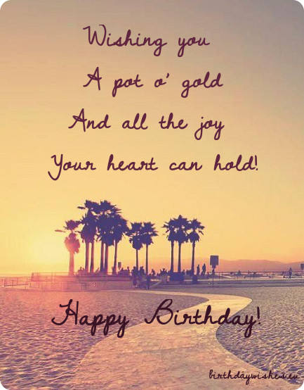 Happy Birthday Sayings wishing you a got a gold and