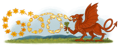 Happy St David's Day Best Greetings Card Image