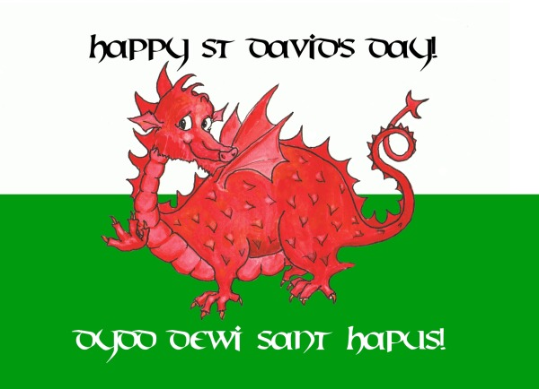 Have A Happy St David's Day Dragon Card Image