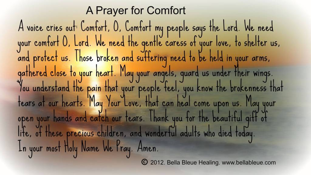 Healing Sayings a prater for comfort
