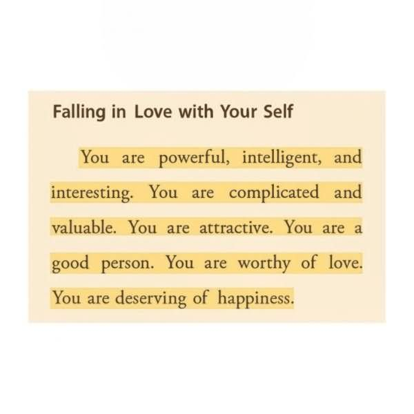Healing Sayings falling in love with your self