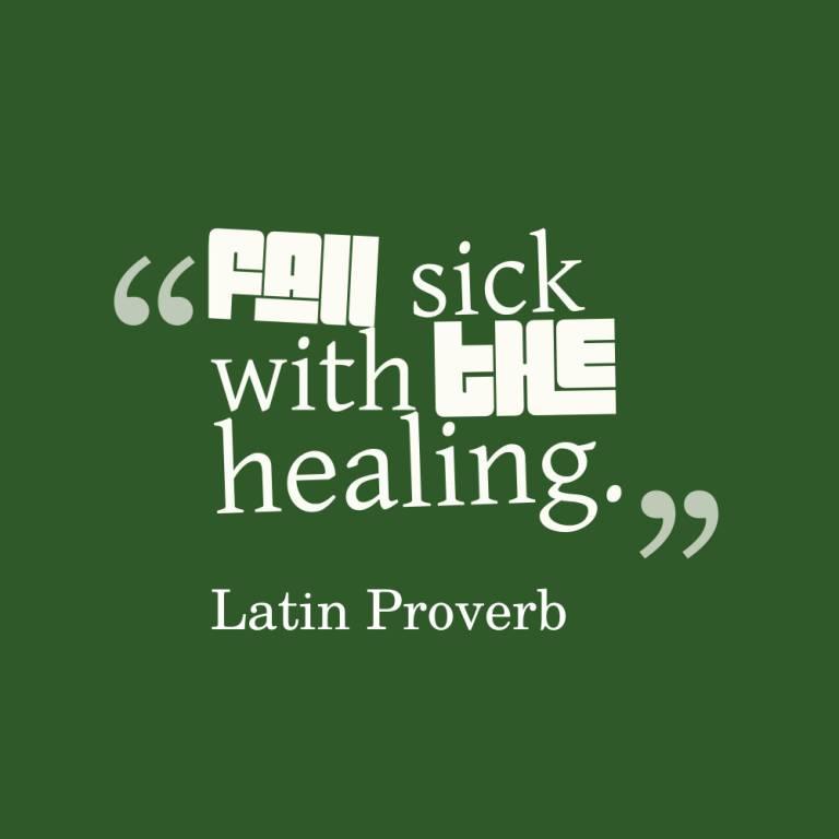 Healing Sayings fan sick with the healing