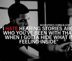 Hood Quotes i hate hearing stories about who you've been with that
