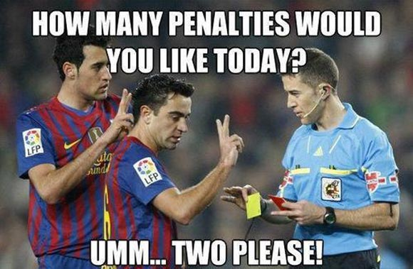 How many penalties would you like today Football Memes