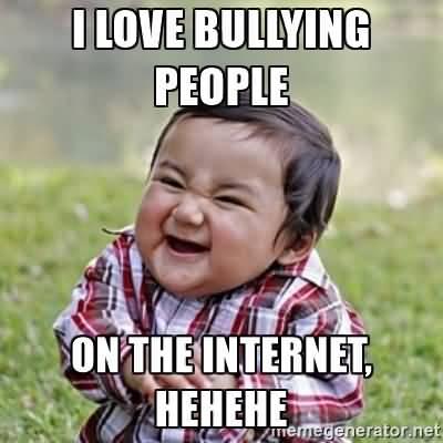 I Love Bullying People On The Internet Hehehe