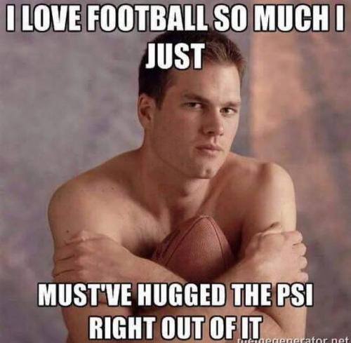I love football so much just must ve hugged the psi right out of it Football Meme