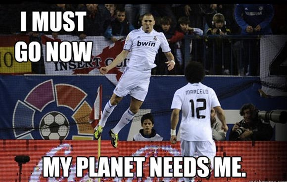 I must go now my planet needs me Football Meme