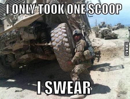 I only took one scoop i swear Army Memes