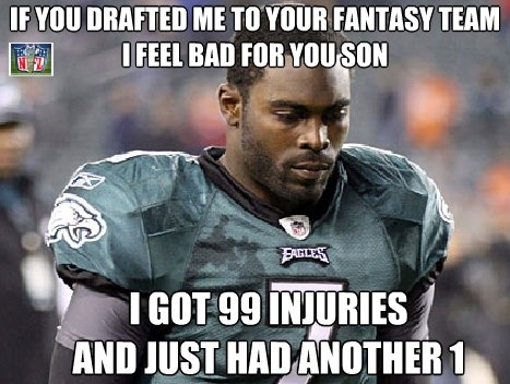 If you drafted me to your fantasy team i feel bad for you son Football Meme