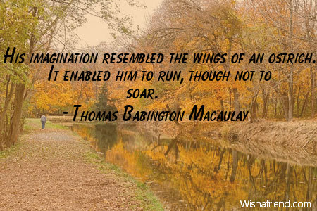Imagination Quotes his imagination resembled the wings of an ostrich it enabled him to run though not to soar
