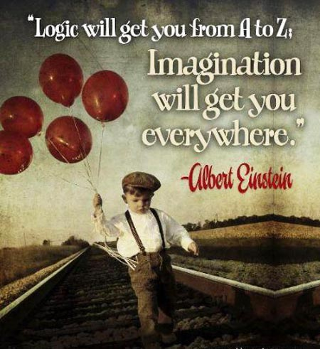 Imagination Quotes logic will get you from a to z imagination will get you everywhere