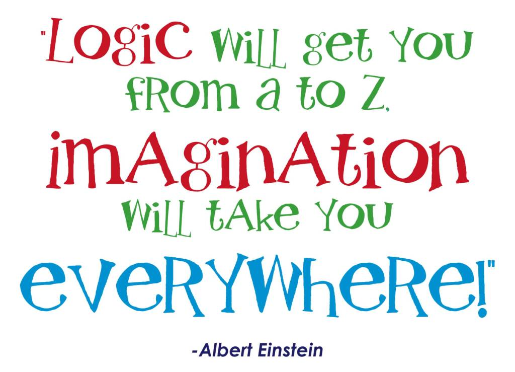 Imagination Quotes logic will get you from a to z imagination will take you every where