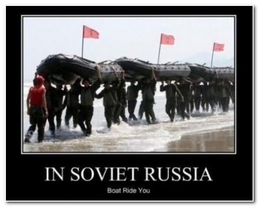 In soviet russia boat ride Funny Army Images