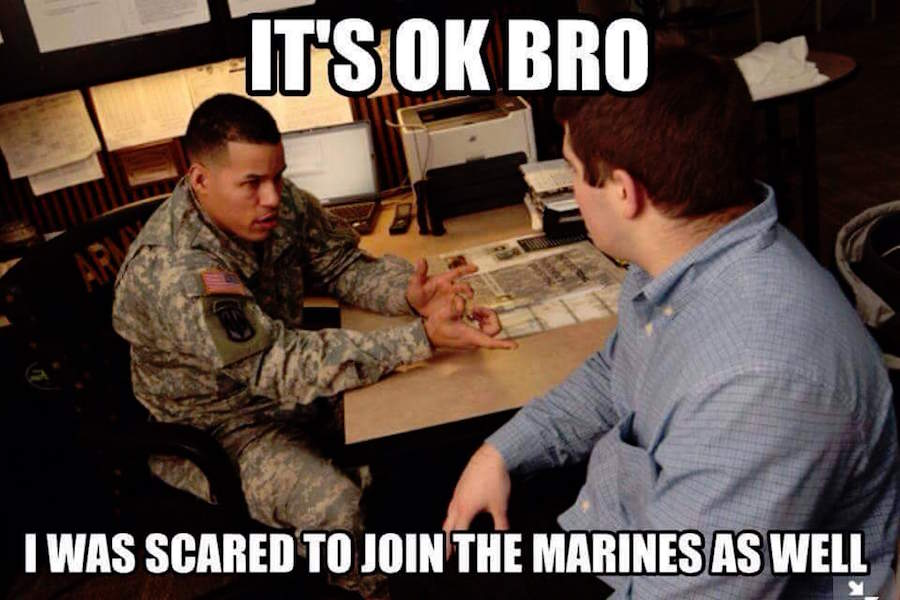 It's ok bro i was scared to join the Funny Army Image