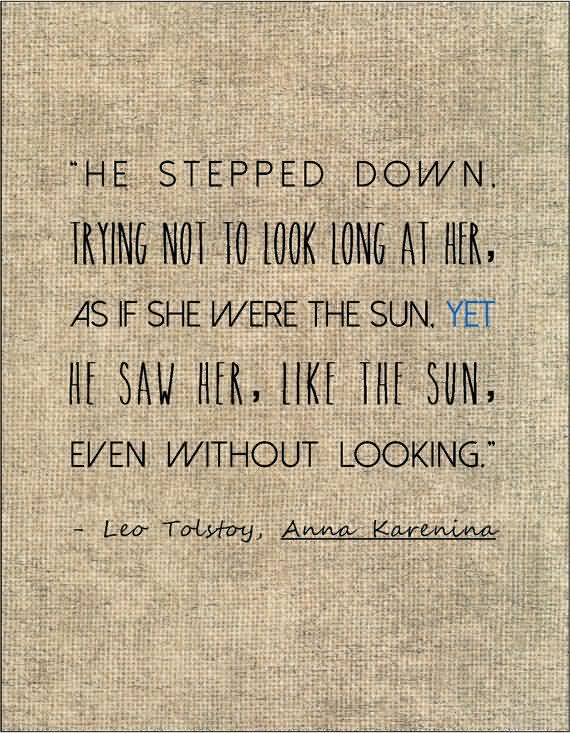 Literary Quotes he stepped down trying not to look long at her