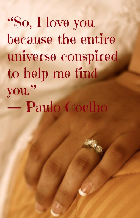 Literary Quotes so i love you because the entire universe conspired