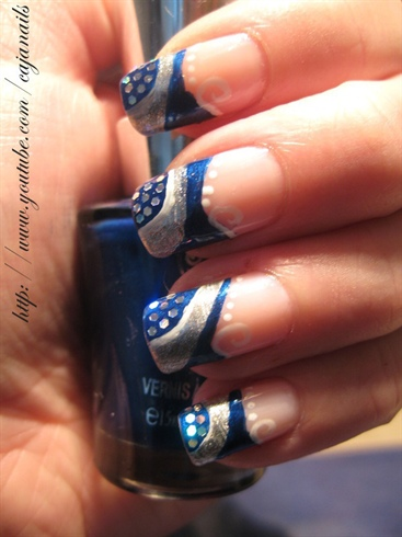 Mind Blowing Blue And Silver Nails