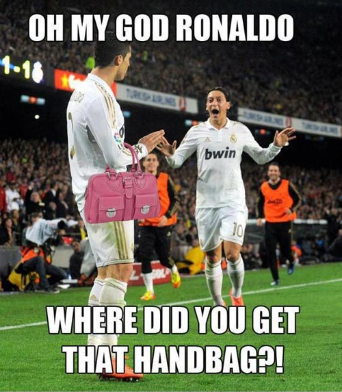 Oh my god ronaldo where did you get Football Meme